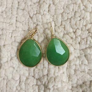 Stella Dot Serenity Stone Jade earrings